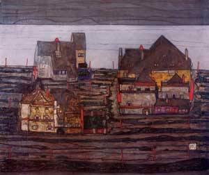 Vorstadt I 1914 | Egon Schiele | Oil Painting