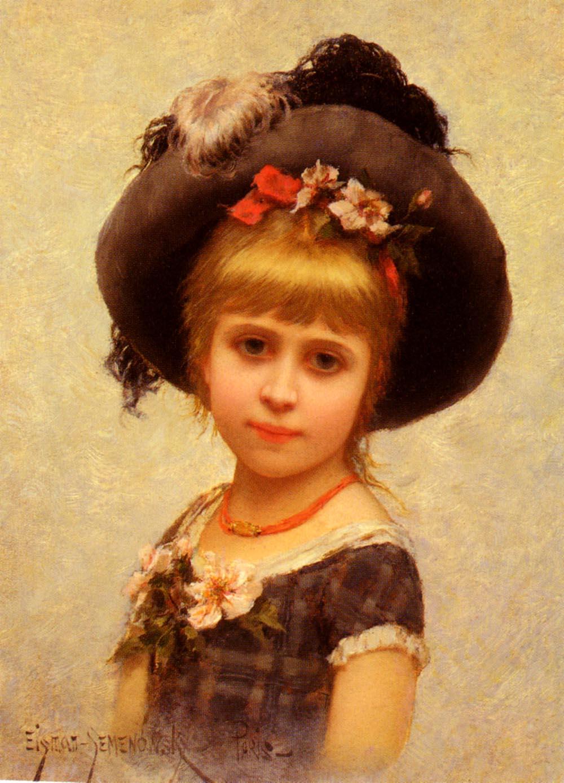 Le Chapeau | Eisman Semenowsky | Oil Painting