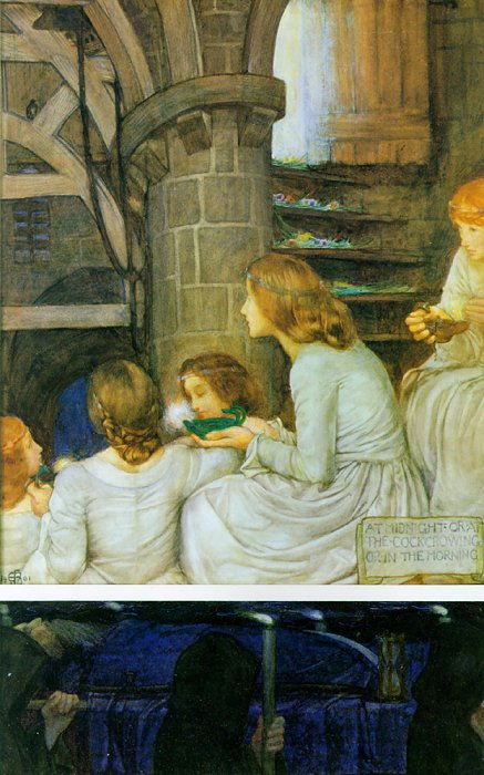 The Wise And Foolish Virgins | Eleanor Fortescue-Brickdale | Oil Painting