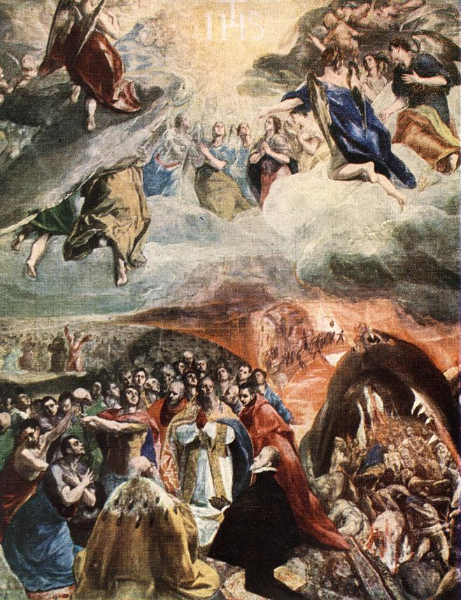 Adoration Of The Name Of Jesus (Dream Of Philip II) 1578-79 | El Greco | Oil Painting