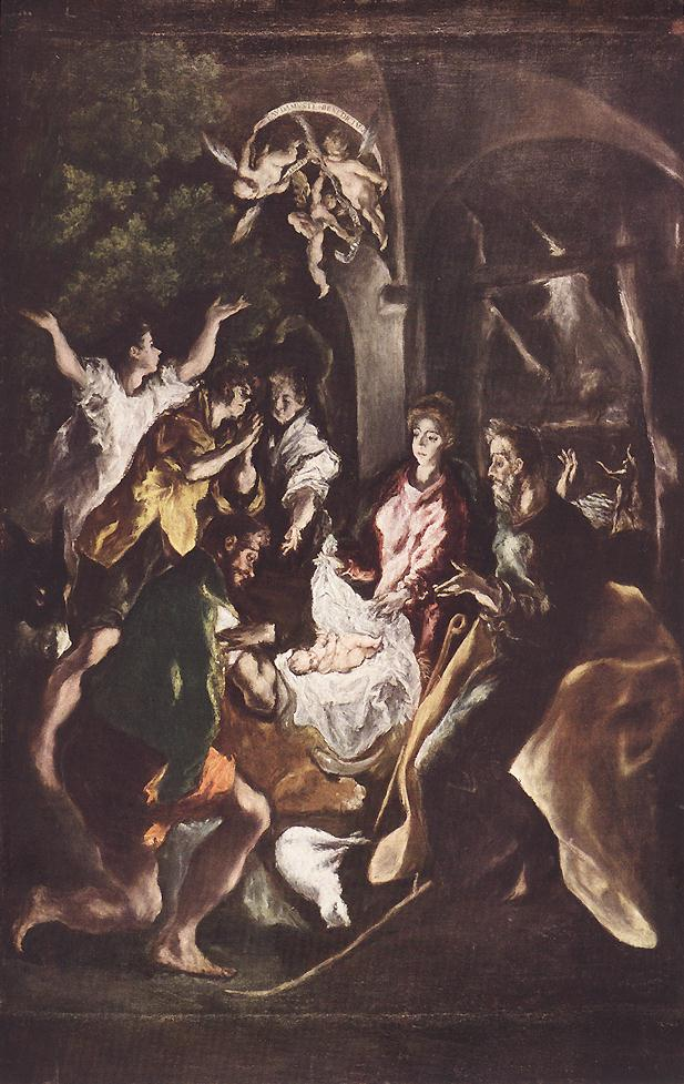 Adoration Of The Shepherds C 1610 | El Greco | Oil Painting