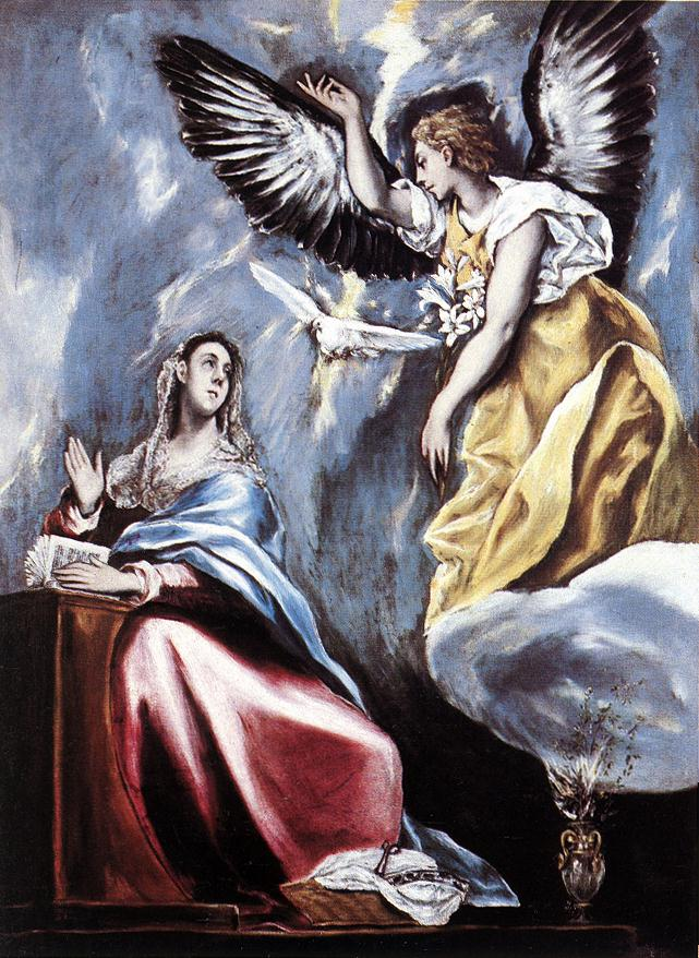 Annunciation 1595-1600 | El Greco | Oil Painting