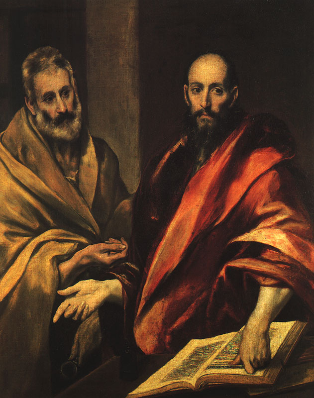 Apostles Peter And Paul 1592 | El Greco | Oil Painting