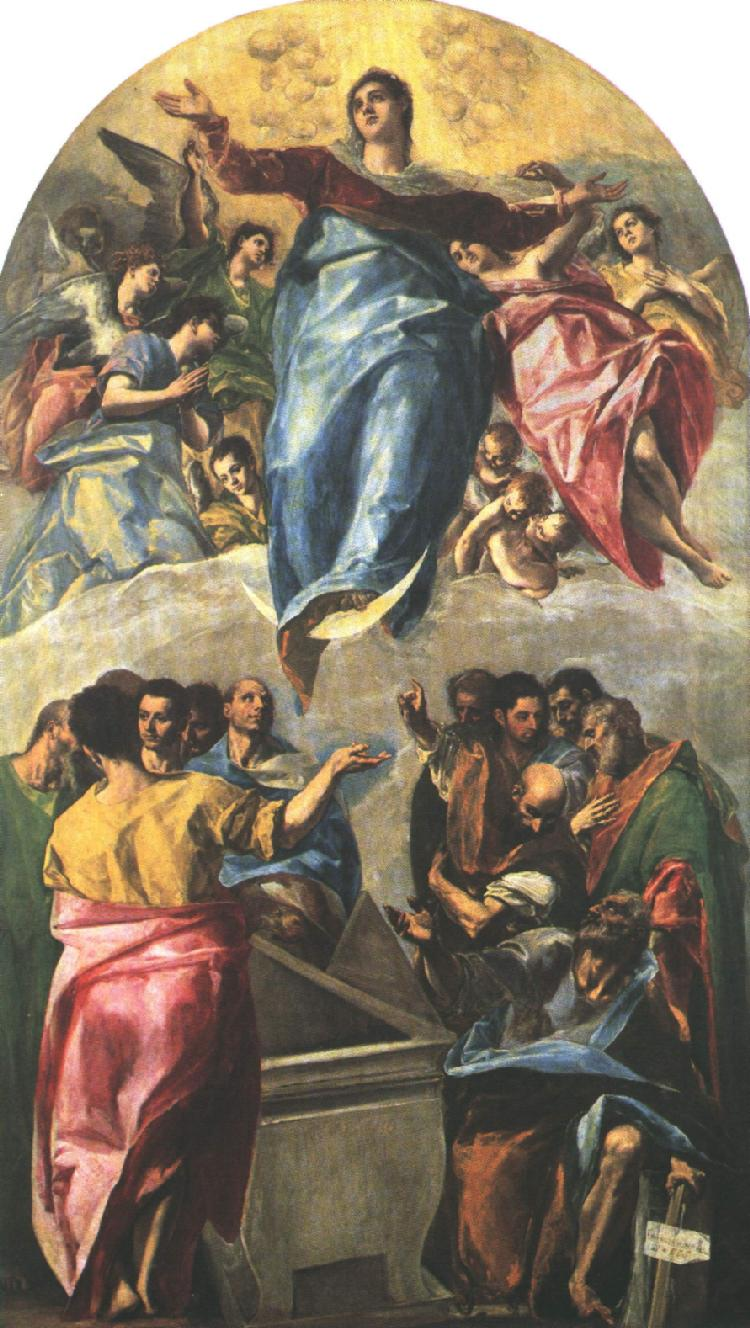 Assumption Of The Virgin 1577 | El Greco | Oil Painting
