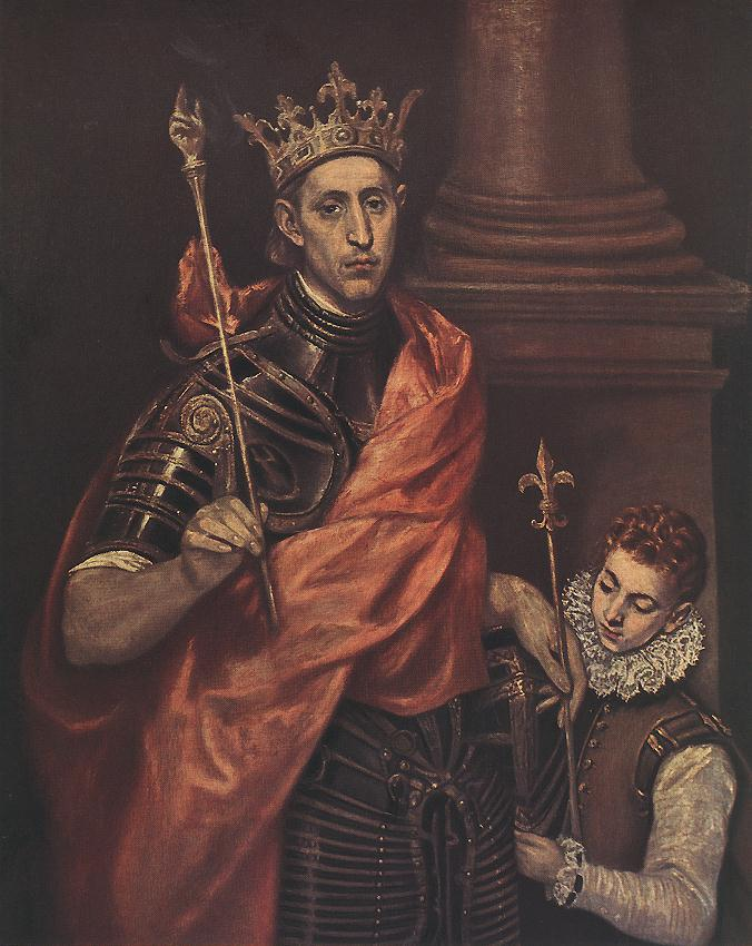 A Saintly King 1590s | El Greco | Oil Painting