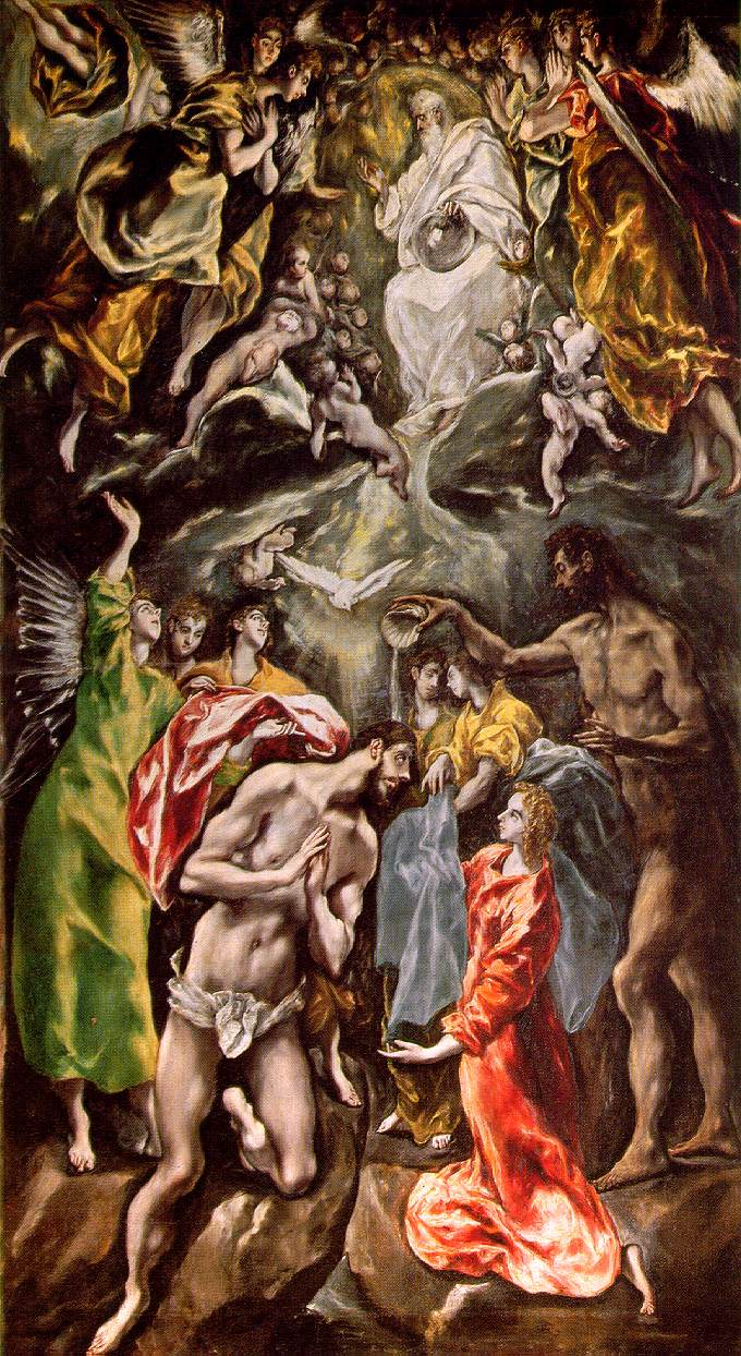 Baptism Of Christ 1608-1614 | El Greco | Oil Painting