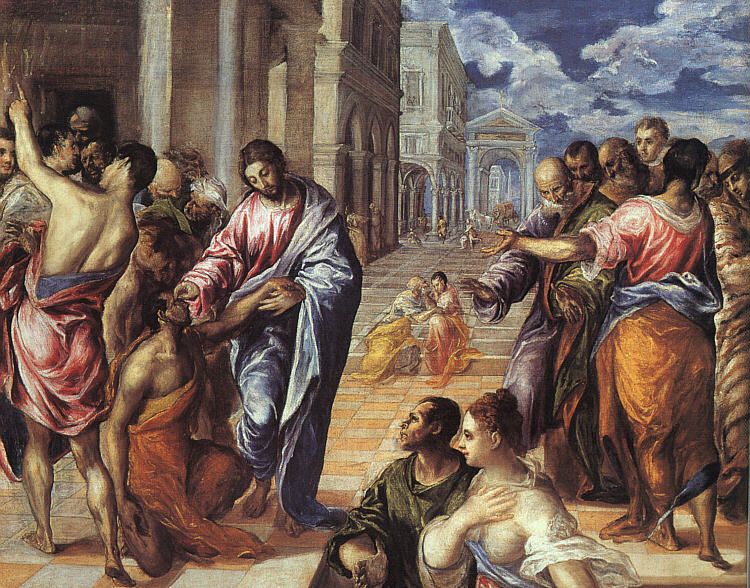 Christ Healing The Blind 1577-78 | El Greco | Oil Painting