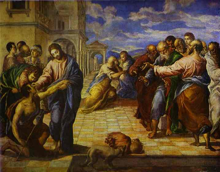 Christ Healing The Blind Man 1560s | El Greco | Oil Painting