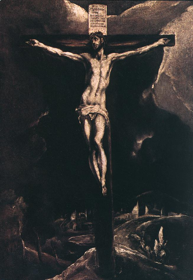 Christ On The Cross 1585-90 | El Greco | Oil Painting