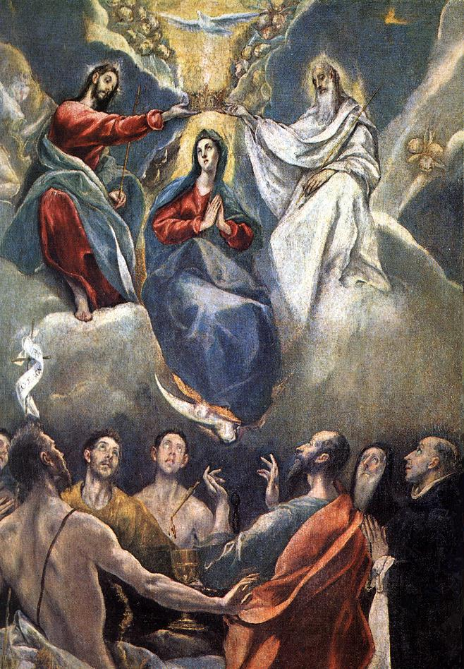 Coronation Of The Virgin 1591 | El Greco | Oil Painting