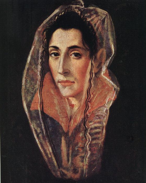 Female Portrait C 1595 | El Greco | Oil Painting