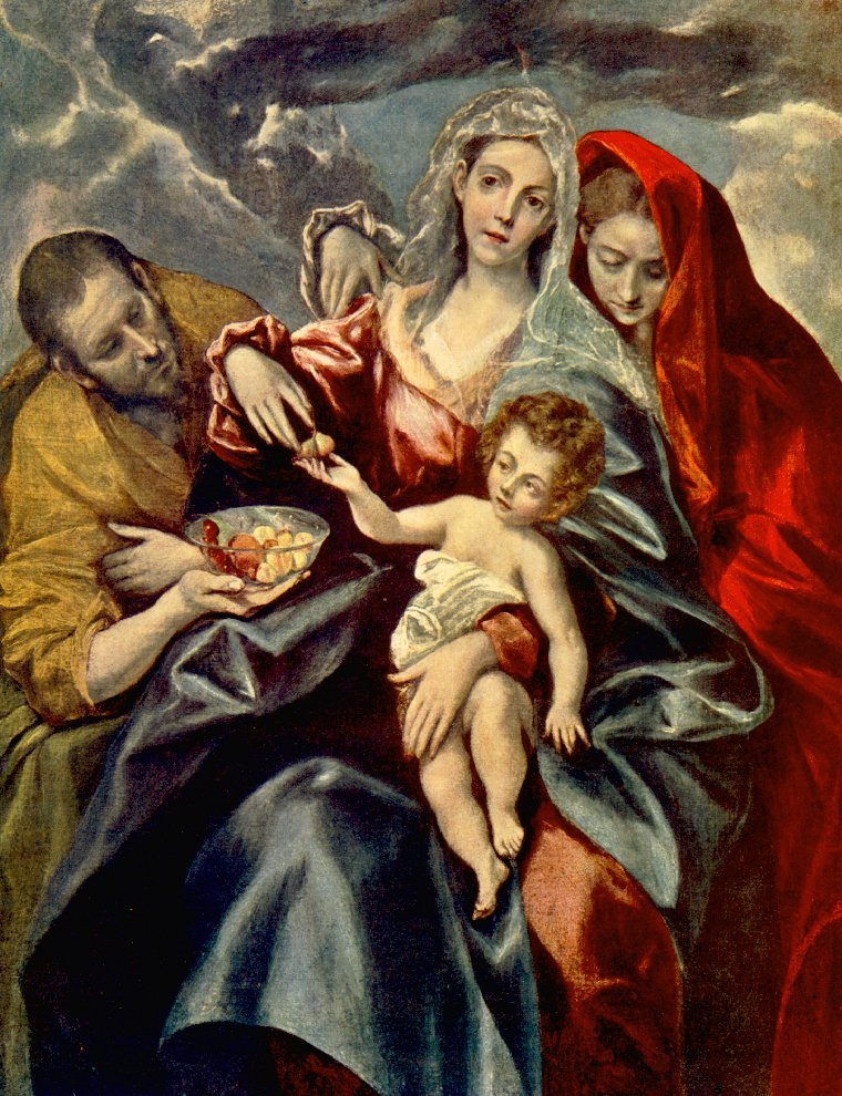 Holy Family 2 C 1592 | El Greco | Oil Painting