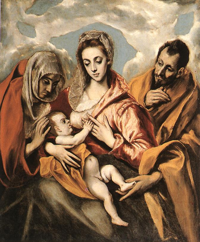 Holy Family 3 C 1592 | El Greco | Oil Painting