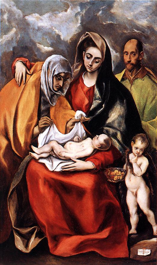 Holy Family C 1592 | El Greco | Oil Painting