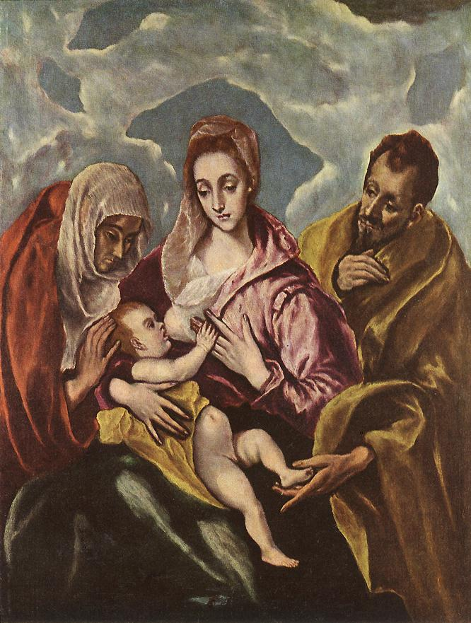 Holy Family With St Anne 1600-10 | El Greco | Oil Painting