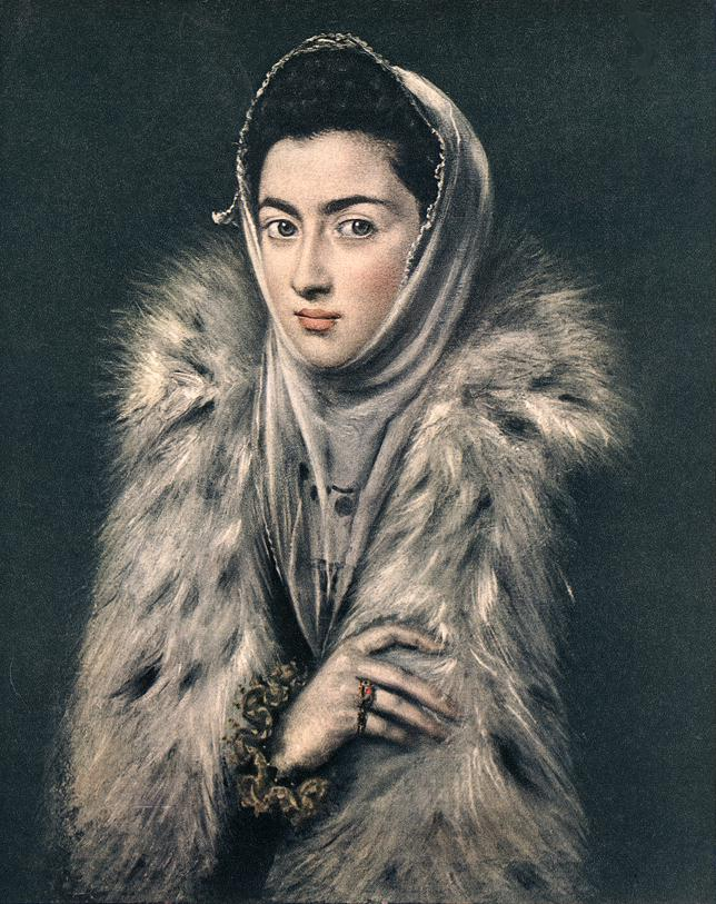 Lady With A Fur 1577-80 | El Greco | Oil Painting