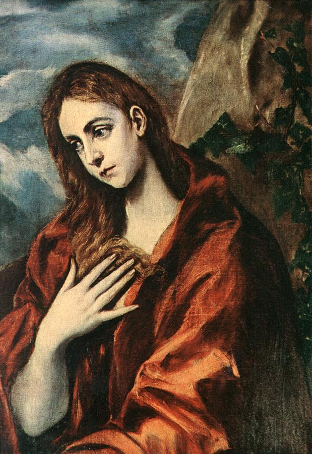 Penitent Magdalene 1585-90 | El Greco | Oil Painting