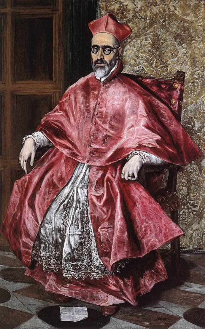 Portrait Of A Cardinal C 1600 | El Greco | Oil Painting