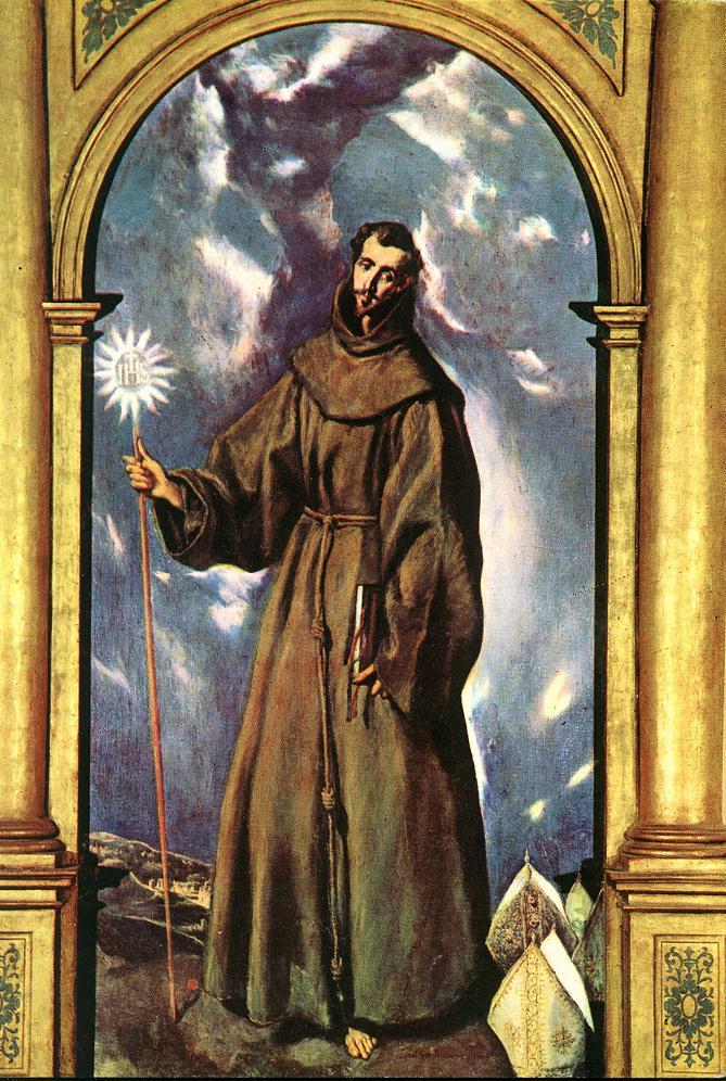 Saint Bernardino 1603 | El Greco | Oil Painting