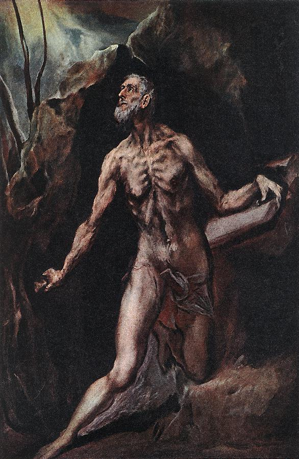 Saint Jerome Penitent 1610-14 | El Greco | Oil Painting