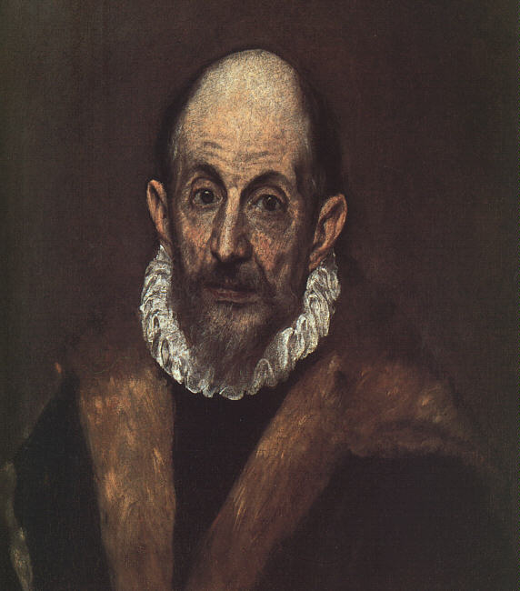 Self-Portrait C 1604 | El Greco | Oil Painting