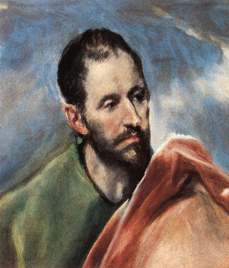 Study Of A Man C 1595 | El Greco | Oil Painting