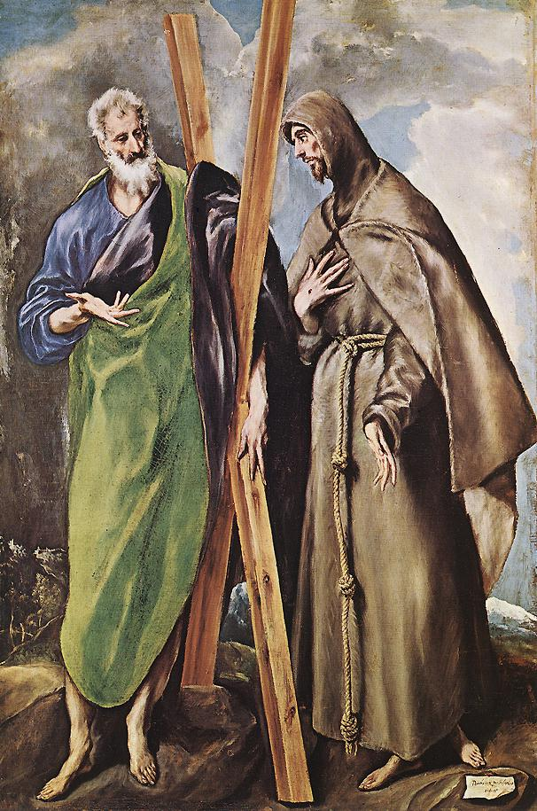 St Andrew And St Francis 1595 | El Greco | Oil Painting