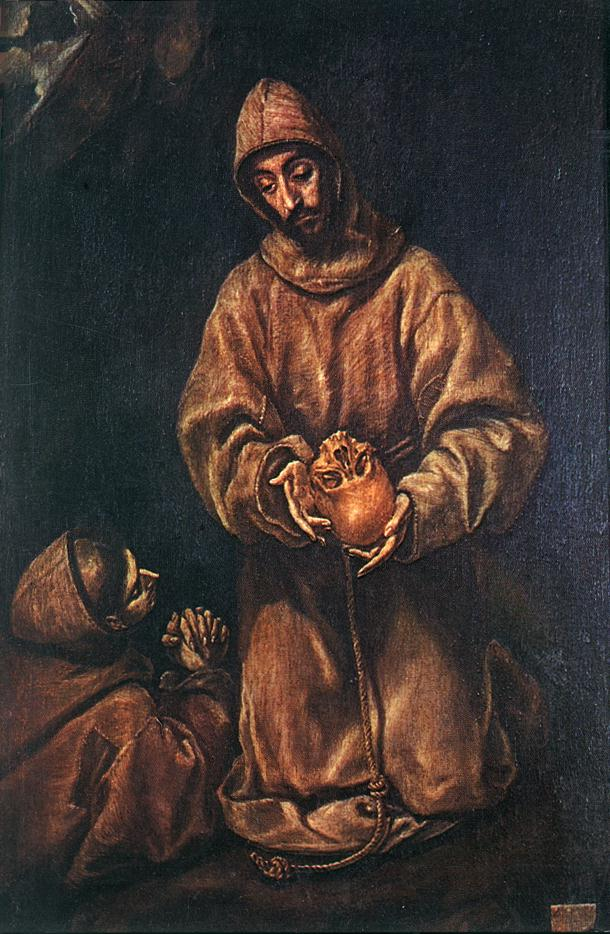 St Francis And Brother Rufus 1600-06 | El Greco | Oil Painting