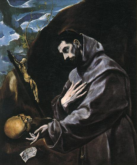 St Francis Praying 1580-90 | El Greco | Oil Painting