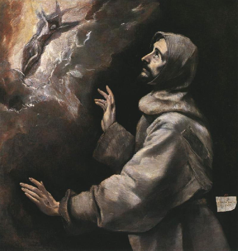 St Francis Receiving The Stigmata 1577-79 | El Greco | Oil Painting