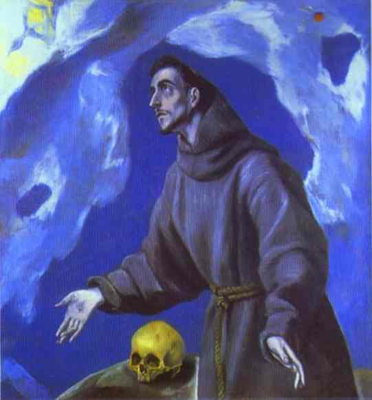 St Francis Receiving The Stigmata 1590-1595 | El Greco | Oil Painting