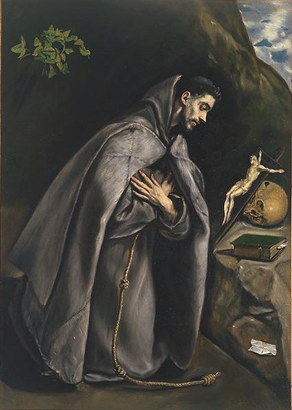 St Francis Venerating The Crucifix C 1595 | El Greco | Oil Painting