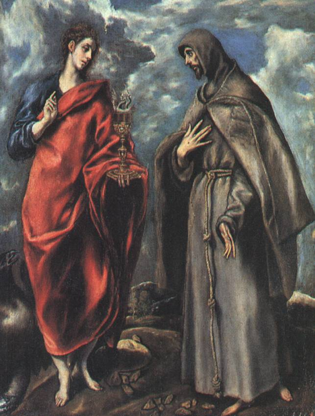 St John The Evangelist And St Francis C 1608 | El Greco | Oil Painting
