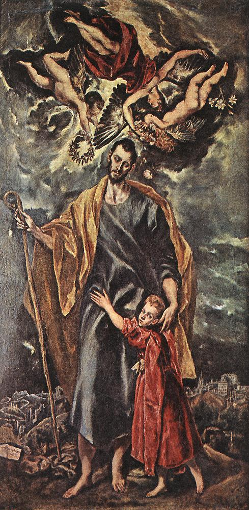 St Joseph And The Christ Child 1597-99 | El Greco | Oil Painting