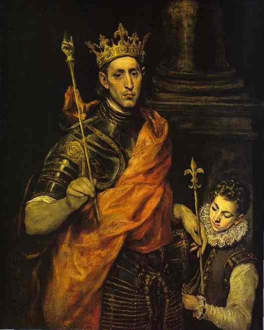 St Louis King Of France With A Page | El Greco | Oil Painting