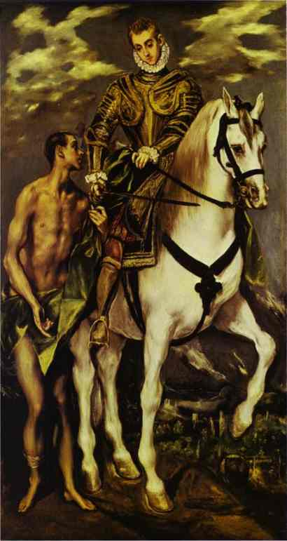 St Martin And The Beggar 1597-1599 | El Greco | Oil Painting
