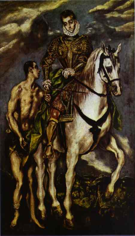 St Martin And The Beggar 1604-1614 | El Greco | Oil Painting