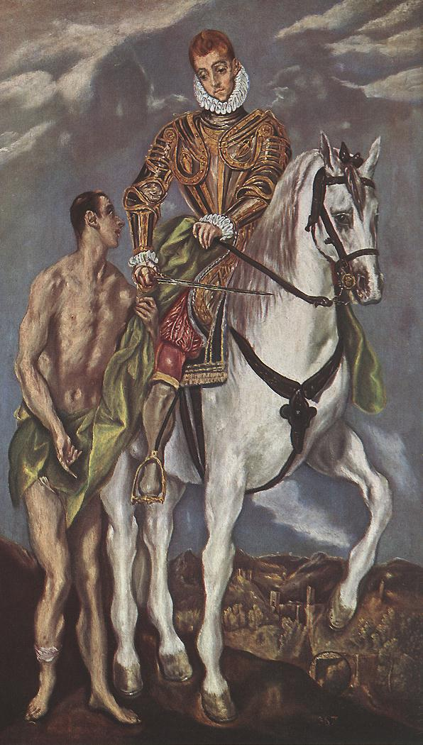 St Martin And The Beggar C 1604 | El Greco | Oil Painting