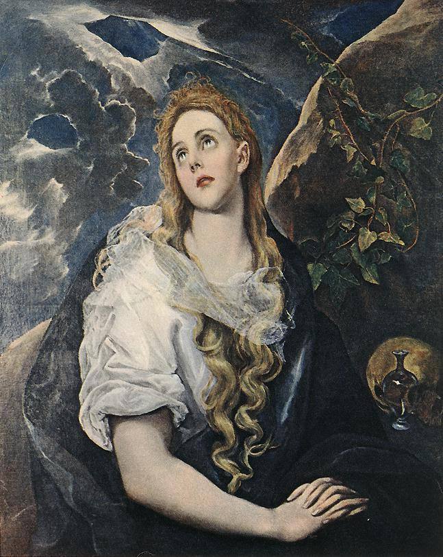 St Mary Magdalene 1580-85 | El Greco | Oil Painting
