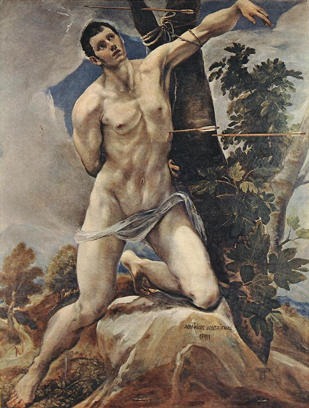 St Sebastian 1580 | El Greco | Oil Painting