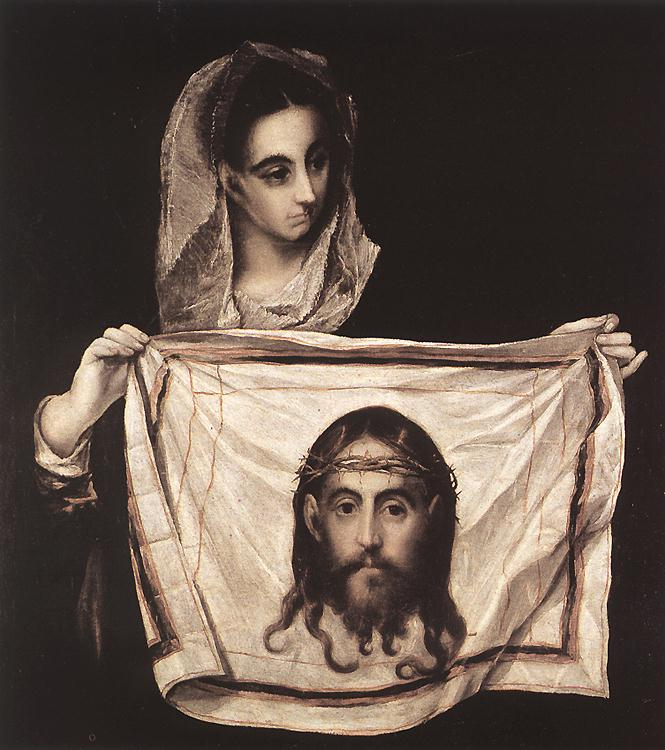 St Veronica With The Sudary 1579 | El Greco | Oil Painting