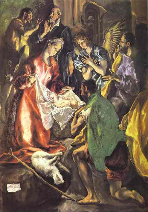 The Adoration Of The Shepherds (Detail) 1596-1600 | El Greco | Oil Painting