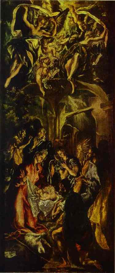 The Adoration Of The Shepherds 1590s | El Greco | Oil Painting