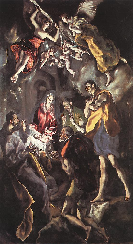 The Adoration Of The Shepherds C 1614 | El Greco | Oil Painting
