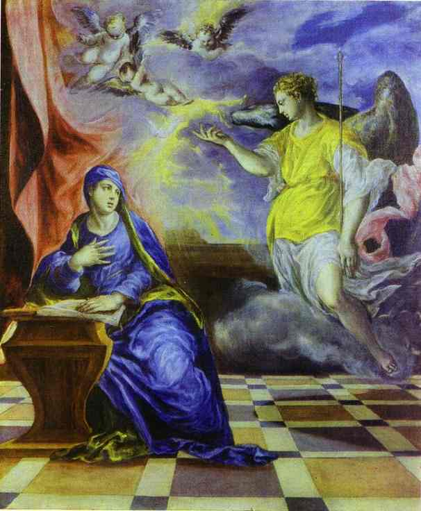 The Annunciation 1570-1575 | El Greco | Oil Painting