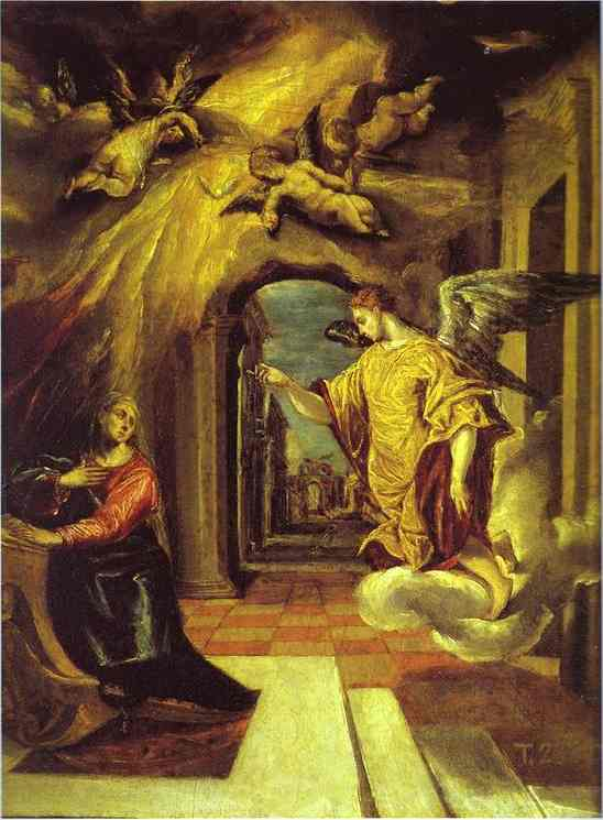 The Annunciation 1575 | El Greco | Oil Painting