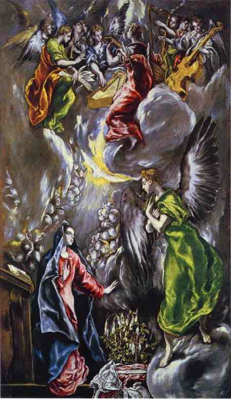 The Annunciation 1590s | El Greco | Oil Painting