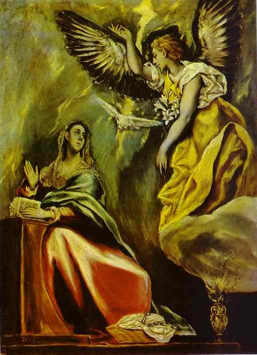 The Annunciation 1600s | El Greco | Oil Painting