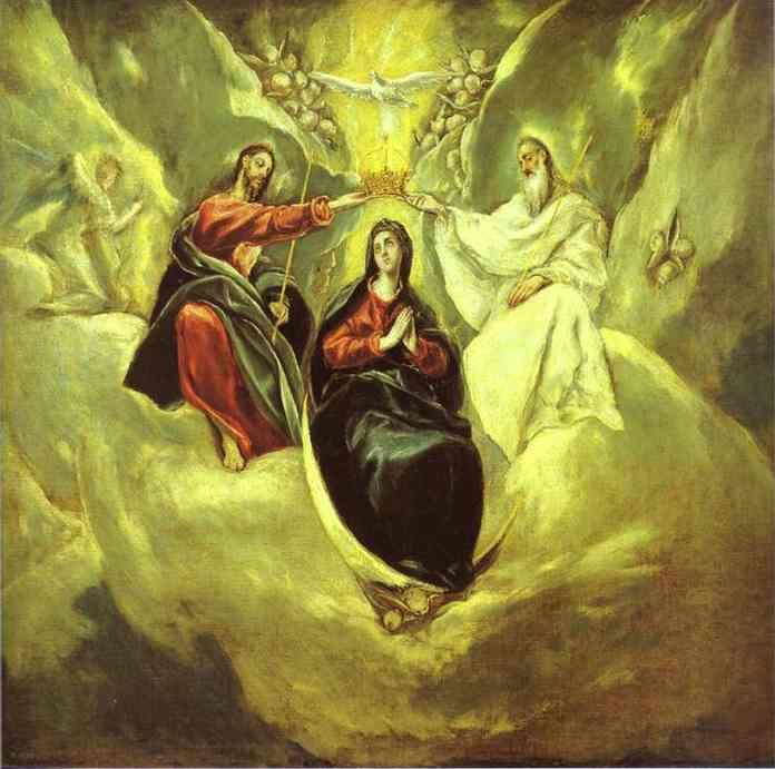 The Coronation Of The Virgin 1592 | El Greco | Oil Painting
