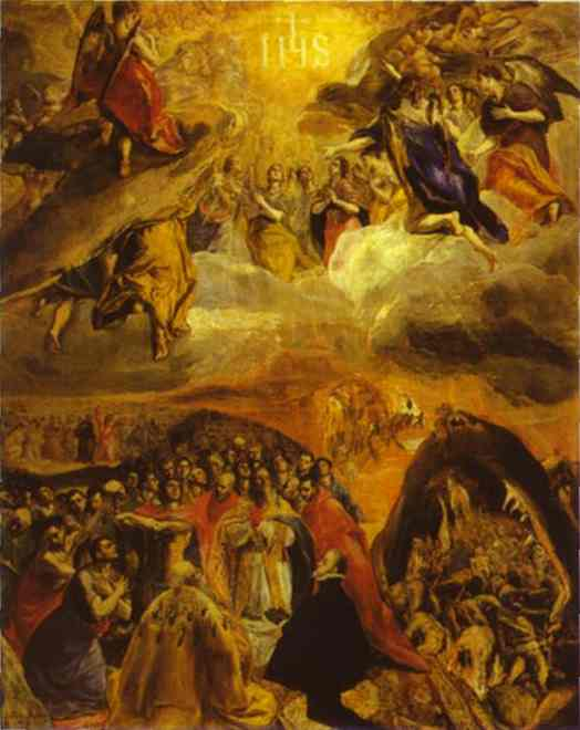 The Dream Of Philip II 1579 | El Greco | Oil Painting